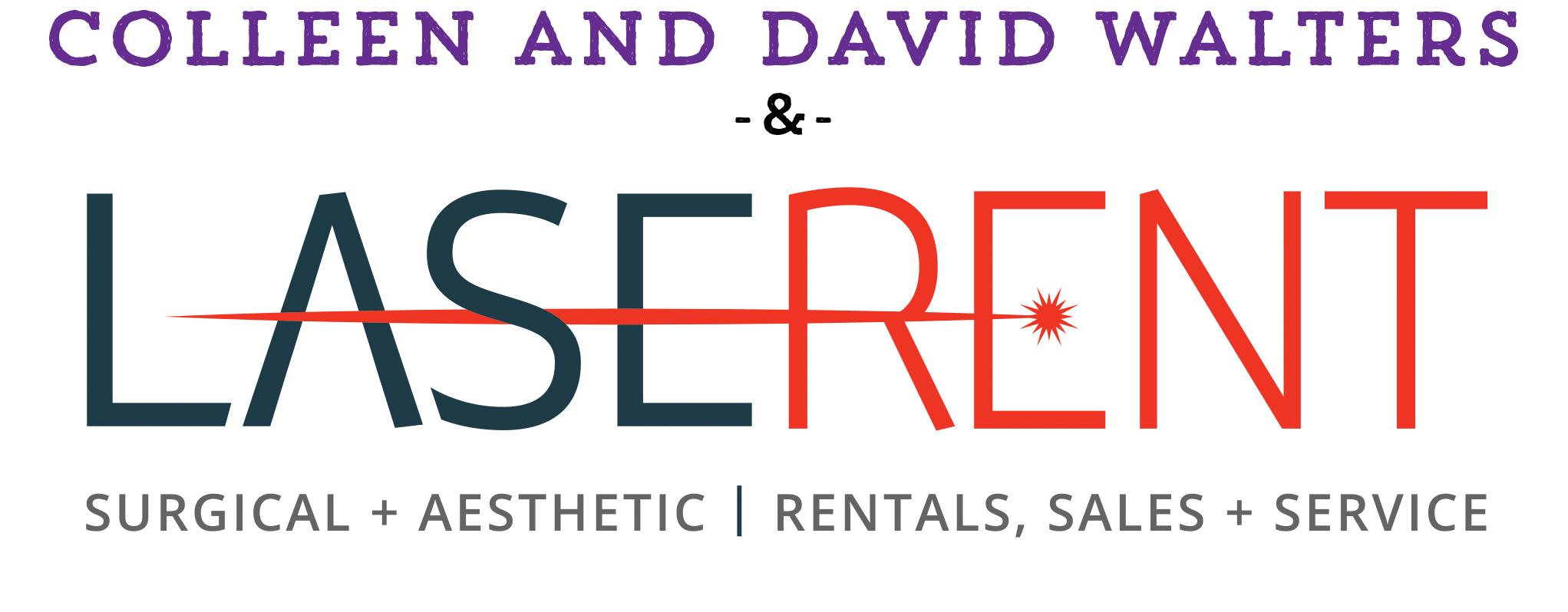 Colleen and David Walters LaseRent logo